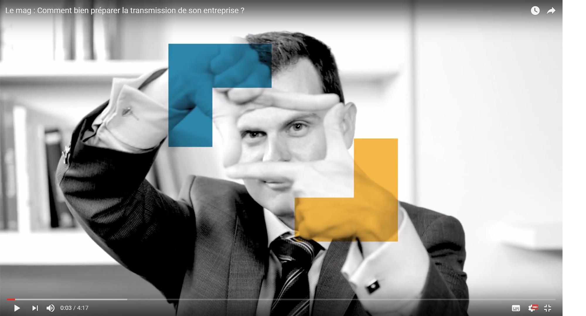 Vidéo sur la transmission d'entreprise