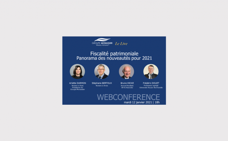 webconférence fiscalité patrimoniale 2021