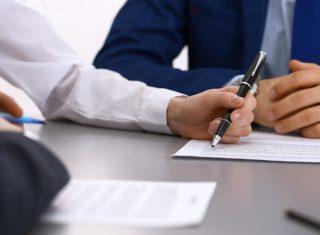 Signature d'un bail commercial
